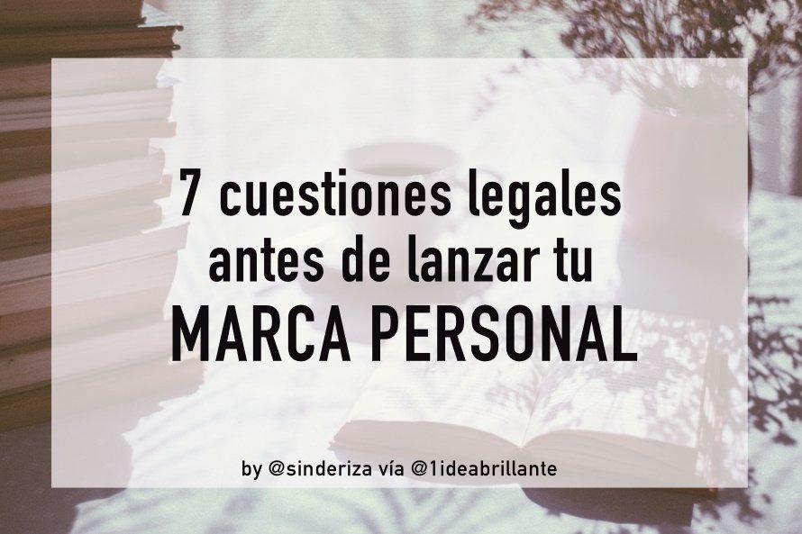 7 cuestiones legales marca personal
