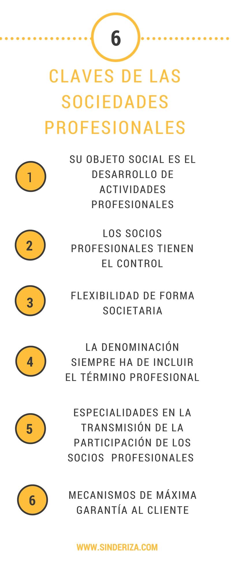 6 puntos claves de las sociedades profesionales